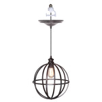 "Load image into Gallery viewer, Instant Pendant Recessed Light Conversion Kit Brushed Bronze Large 14"" Cage Shade PBN-4834-0011 - Worth Home Products"