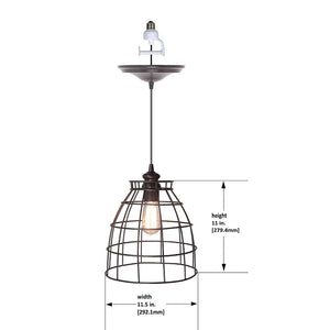 Instant Pendant Recessed Light Conversion Kit Brushed Bronze Dome Cage Shade PBN-5034-0011 - Worth Home Products