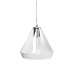 Load image into Gallery viewer, Instant Pendant Recessed Light Conversion Kit Brushed Nickel Clear Glass Shade PBN-6003-0700 - Worth Home Products
