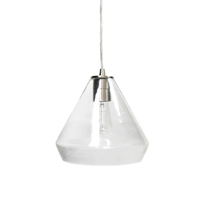 Instant Pendant Recessed Light Conversion Kit Brushed Nickel Clear Glass Shade PBN-6003-0700 - Worth Home Products