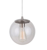 Load image into Gallery viewer, Instant Pendant Light Brushed Nickle Clear Globe PBN-6010-0072 - Worth Home Products