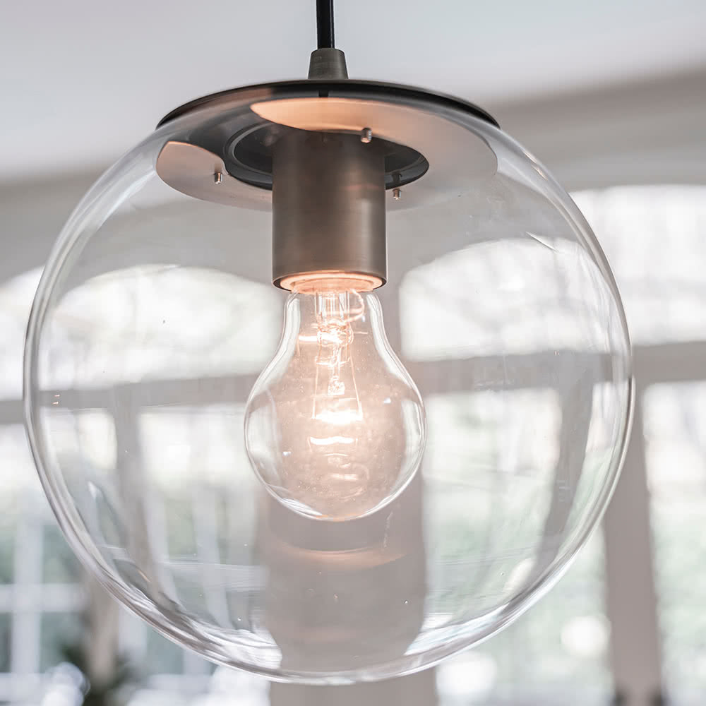 Instant Pendant Light Brushed Brass Clear Globe PBN-6010-0073