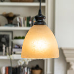 Load image into Gallery viewer, Instant Pendant Light with Linen Glass Dome Shade - Worth Home Products