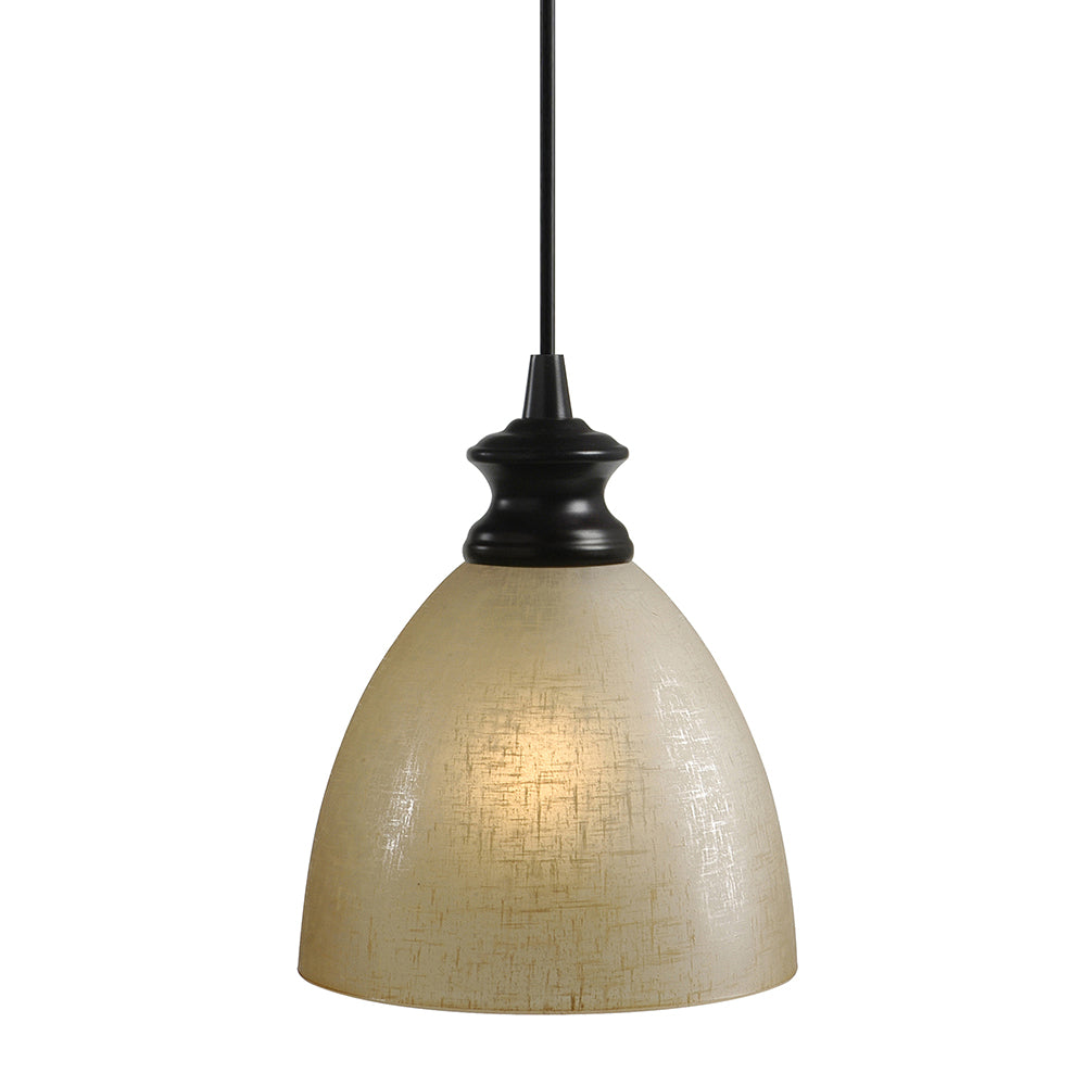 Instant Pendant Light with Linen Glass Dome Shade - Worth Home Products