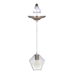 Load image into Gallery viewer, Instant Pendant Recessed Light Conversion Kit Brushed Nickel Geometric Clear Glass Shade PBN-6550-0700 - Worth Home Products