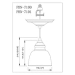 Load image into Gallery viewer, Instant Pendant Recessed Light Conversion Kit Matte Black with Metal Dome Shade PBN-7101 - Worth Home Products