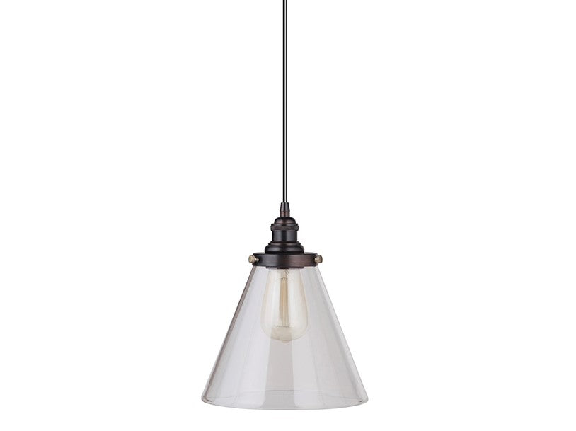 Instant Pendant Conversion Kit Clear Glass Small Cone Shade PBN-7730-8101-A - Worth Home Products