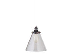 Load image into Gallery viewer, Instant Pendant Conversion Kit Clear Glass Small Cone Shade PBN-7730-8101-A - Worth Home Products