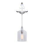 Load image into Gallery viewer, Instant Pendant Recessed Light Conversion Kit Brushed Nickel Transitional Clear Bell Glass Shade PKN-3324 - Worth Home Products