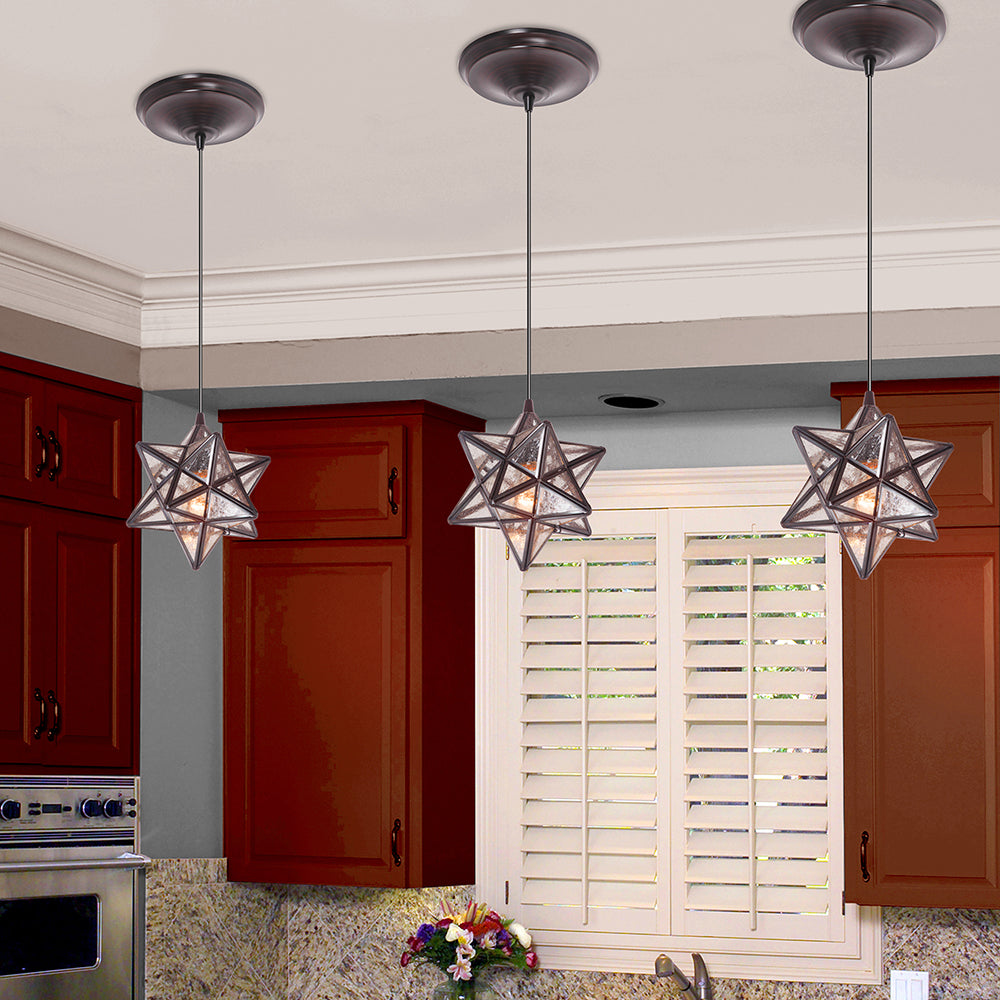 Instant Pendant Recessed Conversion Kit Bronze Moravian Star  PKN-4724 - Worth Home Products