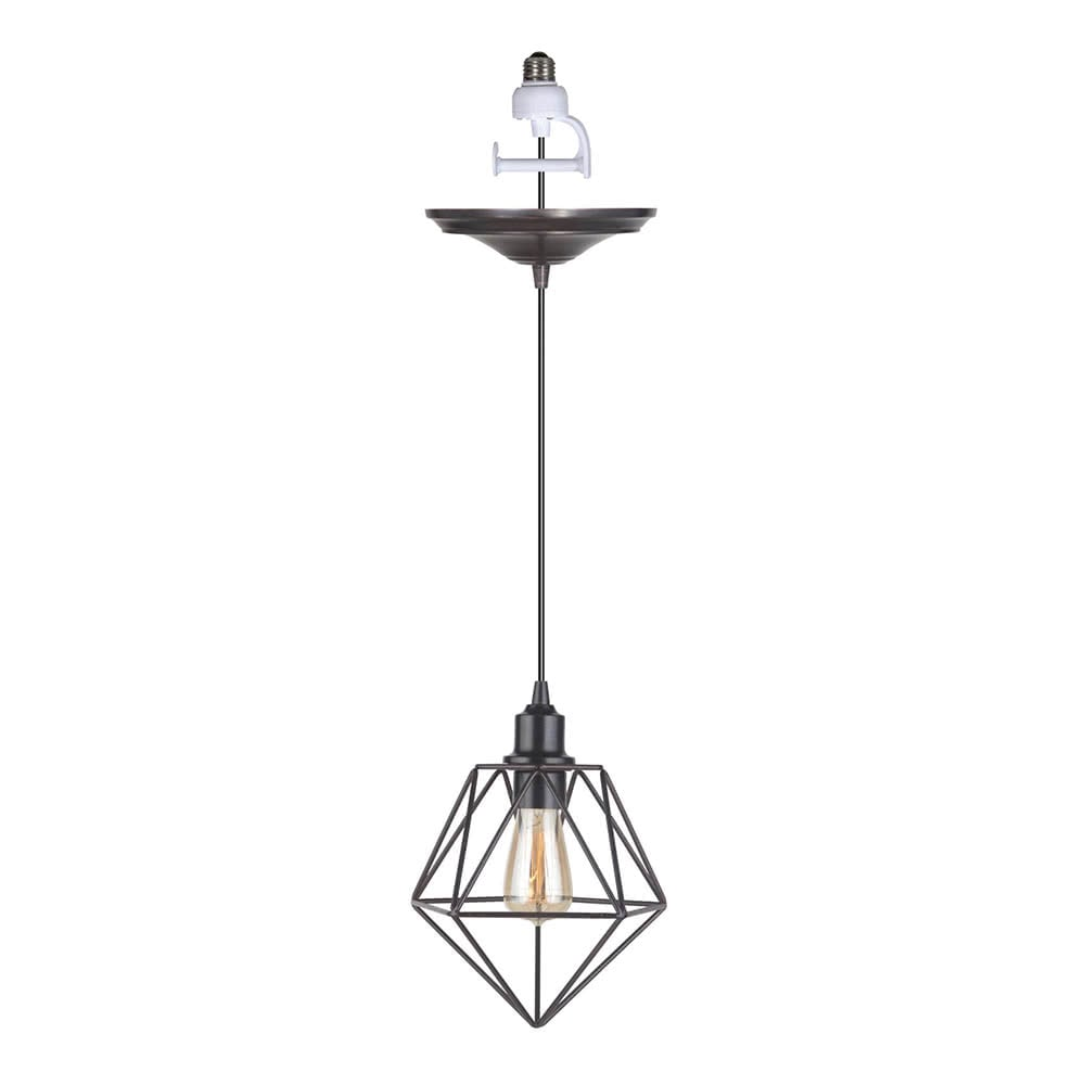 Instant Pendant Light Brushed Bronze Geo-Pyramid PKN-5001-0081 - Worth Home Products