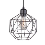 Load image into Gallery viewer, Instant Pendant Light Brushed Bronze Geometric Cage PKN-5005 - Worth Home Products