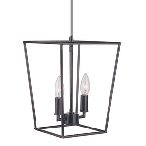 Instant Pendant Light Brushed Bronze 2-Light Lantern PKN-5011 - Worth Home Products