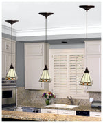 Load image into Gallery viewer, Instant Pendant Recessed Light Conversion Kit Antique Bronze Craftsman Style Shade PKN-5030 - Worth Home Products