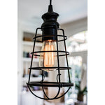 Load image into Gallery viewer, Instant Pendant Light with Small Bronze Cage Shade-PKN-6257-0011 - Worth Home Products