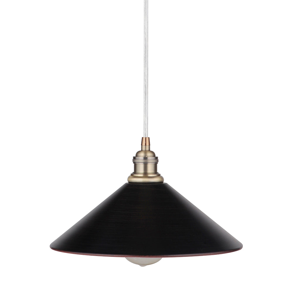 "Instant Pendant Light with 11"" Brushed Bronze Pyramid Shade - Worth Home Products"