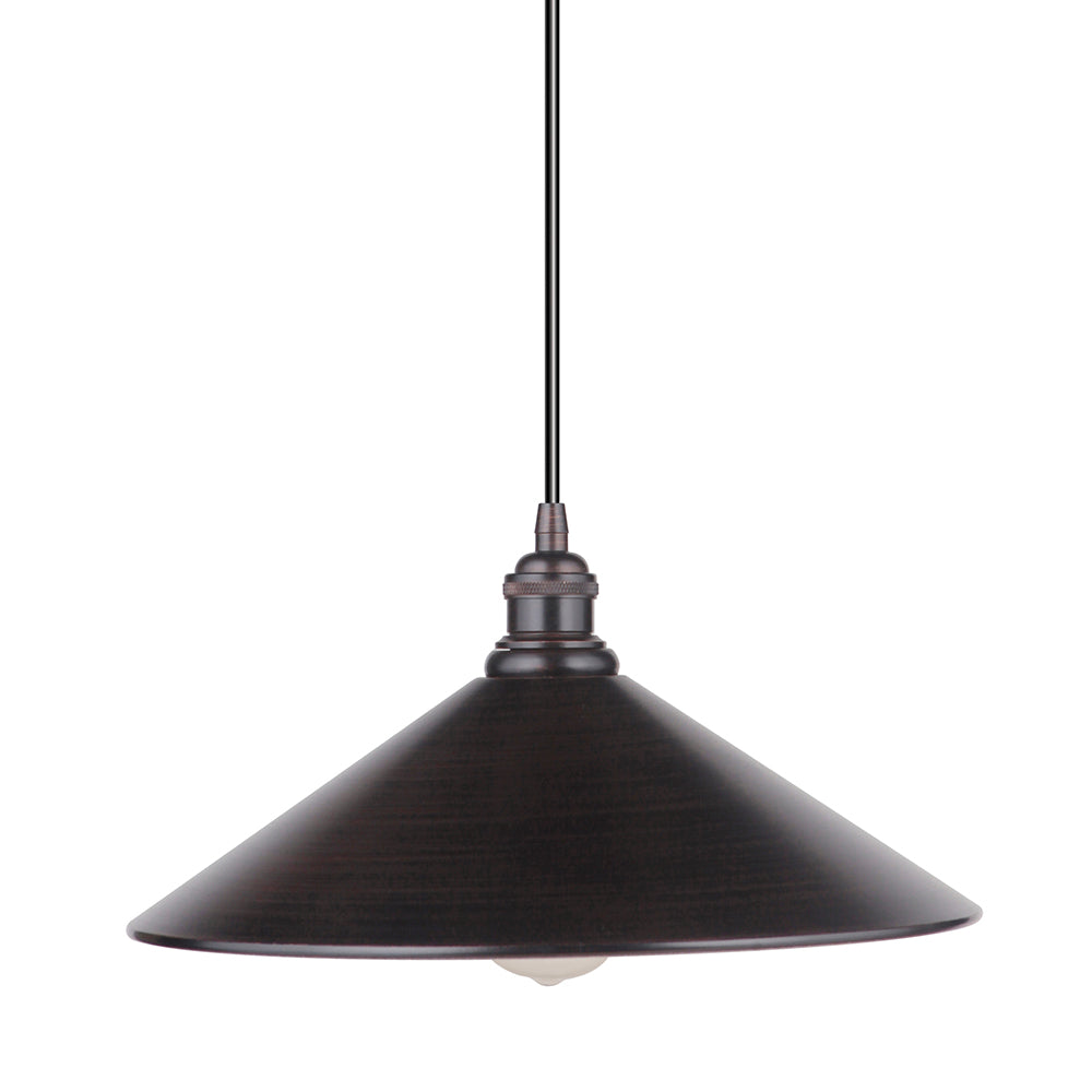 "Instant Pendant Light with 13"" Brushed Bronze Pyramid Shade - Worth Home Products"