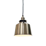 Load image into Gallery viewer, Instant Pendant Recessed Light Conversion Kit Brushed Brass Metal Shade PKN-7602-9750 - Worth Home Products