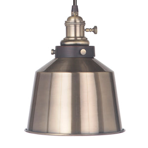 Instant Pendant Recessed Light Conversion Kit Brushed Brass Metal Shade PKN-7602-9750 - Worth Home Products