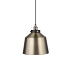 Load image into Gallery viewer, Instant Pendant Light Kit Brushed Bronze & Brushed Brass Metal Dome Shade PKN-7610-8303-F - Worth Home Products