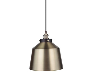 Instant Pendant Light Kit Brushed Bronze & Brushed Brass Metal Dome Shade PKN-7610-8303-F - Worth Home Products