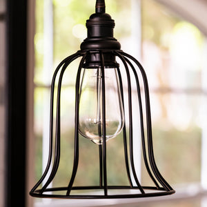 Instant Pendant Recessed Light Conversion Kit Brushed Bronze Bell Cage Shade PKN-9111-8101 - Worth Home Products
