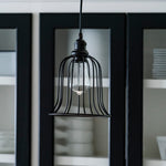 Load image into Gallery viewer, Instant Pendant Recessed Light Conversion Kit Brushed Bronze Bell Cage Shade PKN-9111-8101 - Worth Home Products