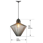 Load image into Gallery viewer, Hardwired Pendant Series 1-Light Brushed Bronze Pendant with Wire Cage Shade PKW-0511 - Worth Home Products