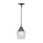 Load image into Gallery viewer, Hardwired Pendant Series 1-Light Brushed Bronze Pendant with Tulip Shaped Cage Shade PKW-8624 - Worth Home Products