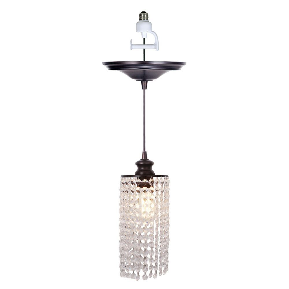 Instant Pendant Light with Descending Clear Crystal Shade - Worth Home Products