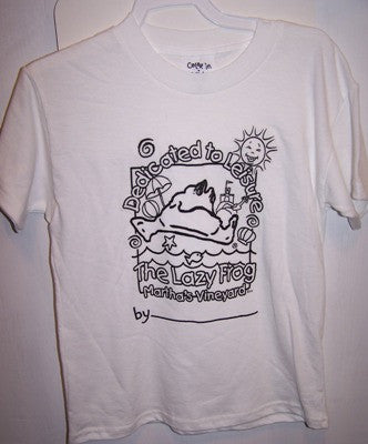 Lazy Frog Color-in Kids T-shirt