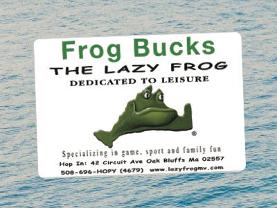 Lazy Frog Gift Card