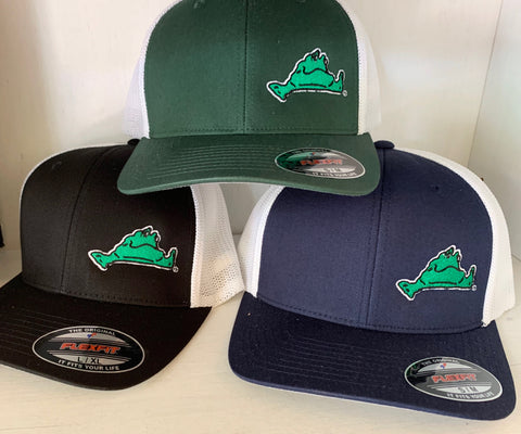 Lazy Frog Flexfit Forest Green/White Hat