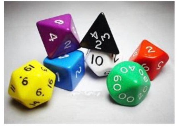 Dice 7 Piece set