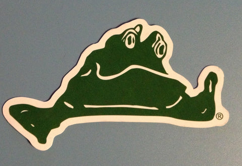 Lazy Frog Bumper Sticker