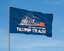 Load image into Gallery viewer, Trump Train - All Aboard - Donald Trump Flags - President 2020