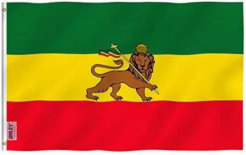 Ethiopia Flag with Lion