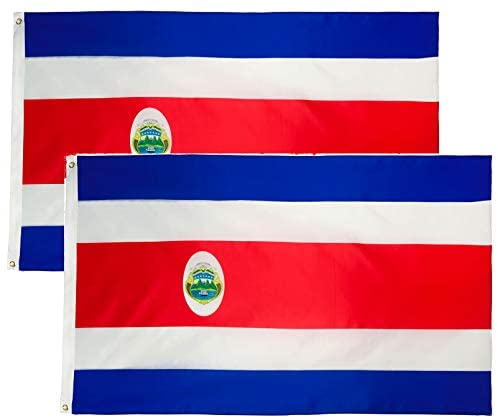 Costa Rica Flag 3x5 (2 pack Option Available)