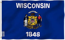 Load image into Gallery viewer, Wisconsin State Flag - 3x5FT