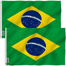 Load image into Gallery viewer, Brazil Flag 3x5 FT and (2 Pack Option)
