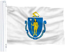 Load image into Gallery viewer, Massachusetts Flag
