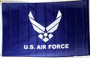 US Air Force Logo on Blue Field Flag NEW NIB