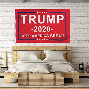 Red Donald Trump Flag 2020