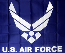 Load image into Gallery viewer, US Air Force Logo on Blue Field Flag NEW NIB