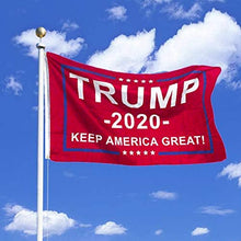 Load image into Gallery viewer, Red Donald Trump Flag 2020