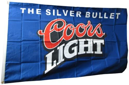 Coors Light Silver Bullet Blue Flag 3x5 FT