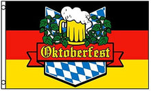 Load image into Gallery viewer, German Bavaria Oktoberfest Beer Flag 3x5 FT