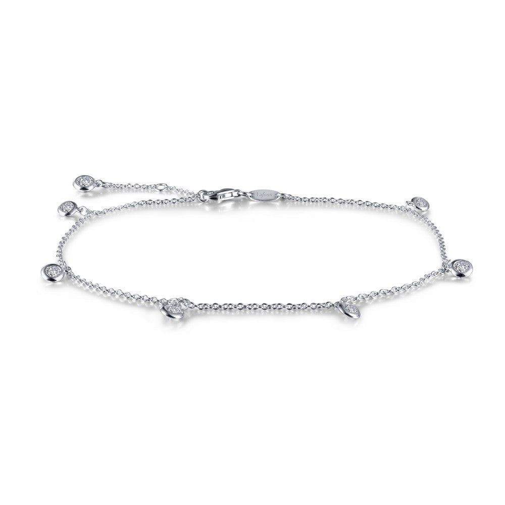 Lafonn Anklet-.91 Carat Simulated Diamonds, Sterling Sliver, Platinum Anklet