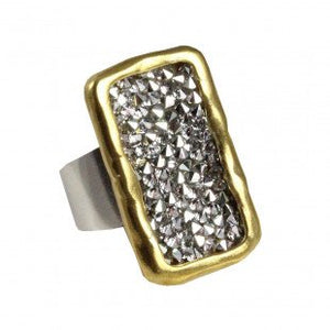 Waxing Poetic-Kristal Ring - Brass