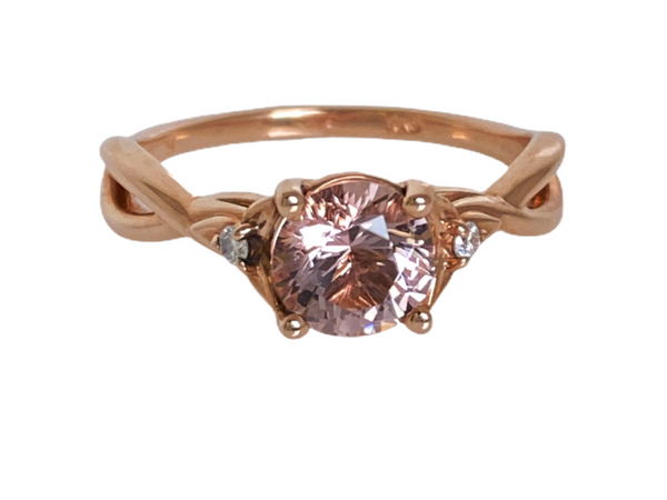 Morganite, Diamonds & 14K Rose Gold Ring